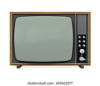 Old Retro Television Isolated. 3D rendering