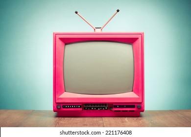 Old retro TV front gradient background