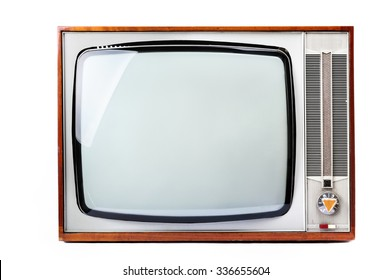 Old Retro Tv isolated on white background