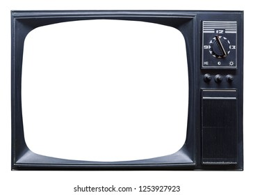 Old retro tv set