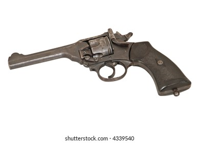 Old revolver. Trophy from the war.