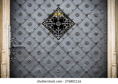 Old richly decorated iron door and frame carved in stone & Reinforced Door Images Stock Photos \u0026 Vectors | Shutterstock