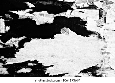 Old ripped torn grunge posters texture background creased crumpled paper backdrop surface placard empty space for text