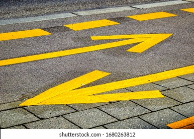 old road marking at a road