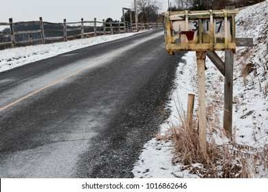 Old Roadside Mailbox