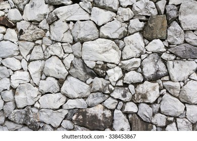 old rock wall, grey color stone wall