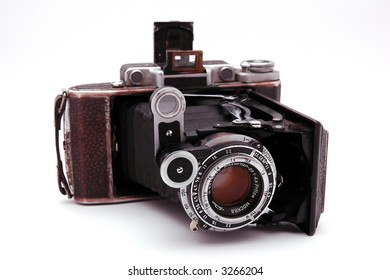 old roll-film camera isolated