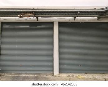 Old rolling steel doors,gates