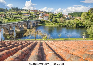 Old Roman bridge in Ponte da Barca, Portugal