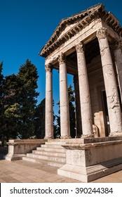 Old roman style Renaissance temple or parthenon in Pula, Croatia