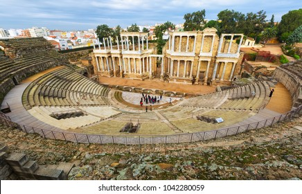 Old Roman Theatre  in  Merida, Spain.