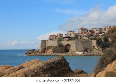 Old Roman town and the Adriatic sea view