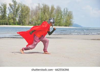 old roman warrior on beach (fancy concept)