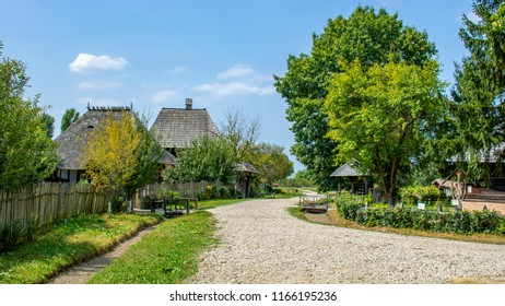 Old romanian traditional houses from Golesti, Arges County, Stefanesti Village