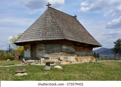 Old romanian traditional wooden church