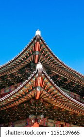 Old Roof decoration of Huijeongdang hall, Changdeokgung Palace, also know as East Palace and one of Five Grand Palaces in Seoul