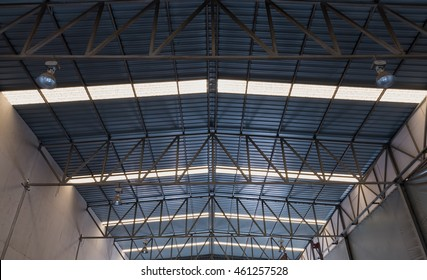 Old roof structure of factory.