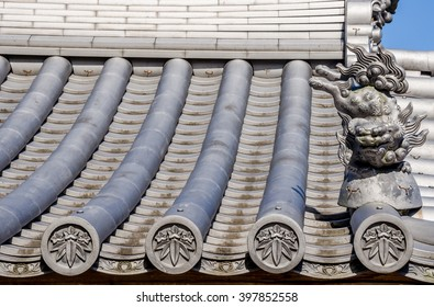 Old rooftop in Japanese style, rooftop in Fukuoka prefecture