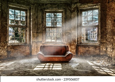 Old room with a couch