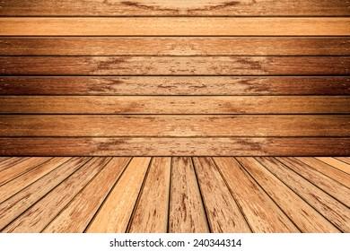old room, wooden background