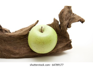 Old root and apple