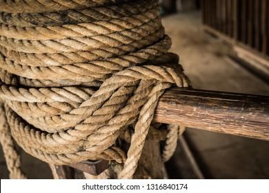 old rope hoist
