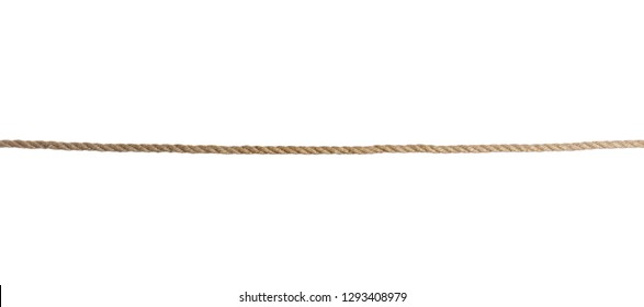 Old rope on white background. Simple design