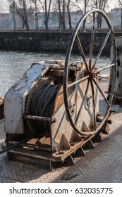 Old rope winch