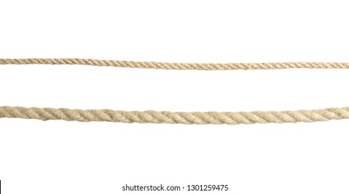Old ropes on white background. Simple design
