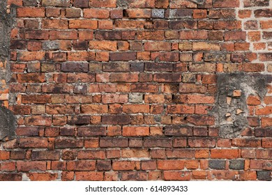 old rough brick wall background