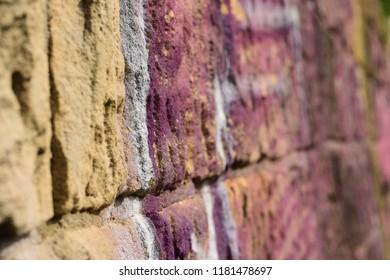 Old Rough Graffiti Grunge Colorful Wall