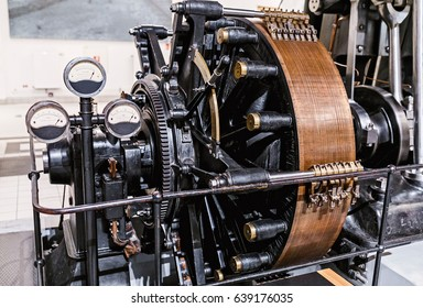 Old round motor rotor with electro system