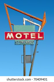 Old Route 66 neon sign