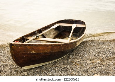 old row boat