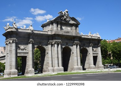 Old royal door that gave access to the city of Madrid - Shutterstock ID 1229990398