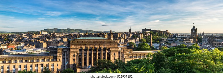 The Old Royal High School (also known as New Parliament House) a neoclassical looking building. Edinburgh, Scotland, UK