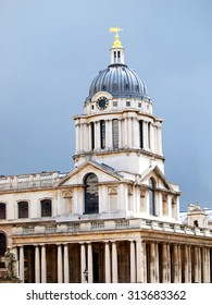 Old Royal Naval College, London on a cloudy day.