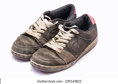 Old rugged shoes.
