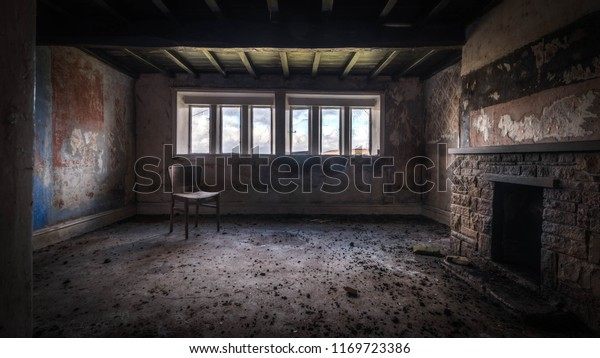 Old Ruined Abandoned House Haunting Atmosphere Stock Photo Edit Now 1169723386