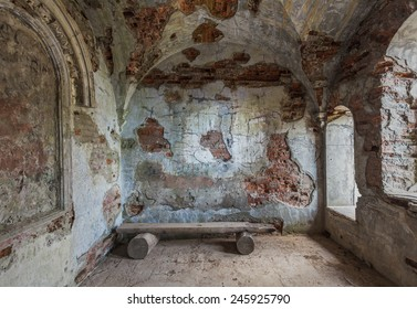 old ruined abandoned interior