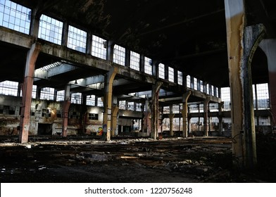 Old ruined industrial factory