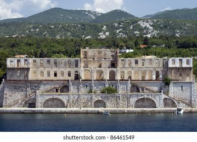 Old ruined medival castle Zrinski-Frankopan, on the Kraljevica waterfront