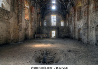 Old ruins of the abandoned church of the Annunciation of the Virgin Mary, Pivon, Czech Republic