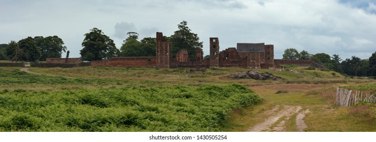 Old ruins of the Bradgate house in Bradgate Park