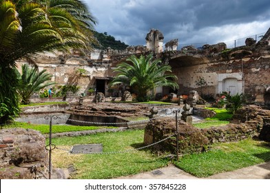 Old ruins in the colonial city of Antigua, Guatemala.