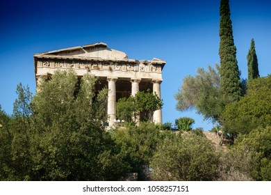 Old ruins of Temple of Hephaestus, Athens, Greece