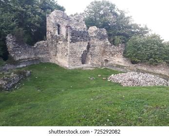 Old ruins - old town in Croatia.