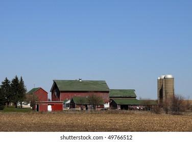 Old  run down Farm Scene