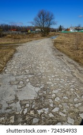 Old rural stone road