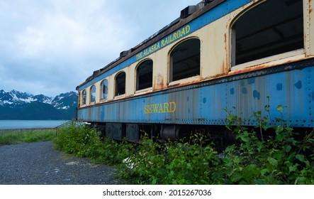 Old Rusted Alaska Railroad Car
